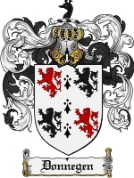Donnegen Family Crest / Coat of Arms JPG or PDF Image Download