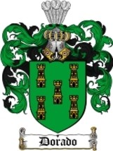 Dorado Family Crest / Coat of Arms JPG or PDF Image Download - $6.99