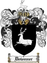 Downner Family Crest / Coat of Arms JPG or PDF Image Download - $6.99