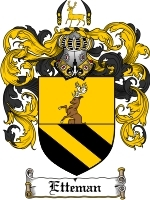 Etteman Family Crest / Coat of Arms JPG or PDF Image Download