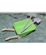Playmobil Wheelbarrow Shovel and Broom - $7.00