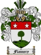Flannery Family Crest / Coat of Arms JPG or PDF Image Download - $6.99