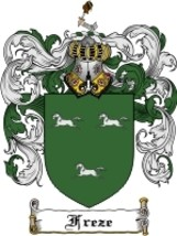 Freze Family Crest / Coat of Arms JPG or PDF Image Download - $6.99