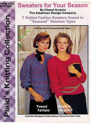 Plaid's Knitting Collection - SWEATERS - 1986 Book  No. 8156 - $9.00