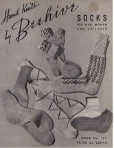 SOCKS  - Hand Knits by Beehive - 1944 Knitting Book 127 - $9.99