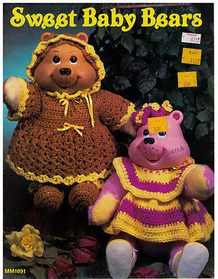 SWEET BABY BEARS - 1984 Leisure Time booklet 1091 - $12.99