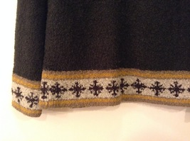 Christopher & Banks Dark Green Knitted Sweater with Snowflakes trim size S image 4