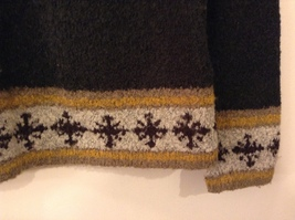 Christopher & Banks Dark Green Knitted Sweater with Snowflakes trim size S image 5
