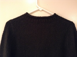 Christopher & Banks Dark Green Knitted Sweater with Snowflakes trim size S image 6