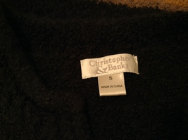 Christopher & Banks Dark Green Knitted Sweater with Snowflakes trim size S image 8