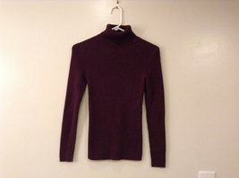 Moda International Dark Maroon (Red Wine Color) Cotton Turtleneck Sweater size S