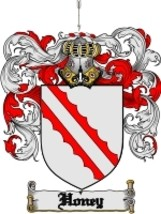 Honey Family Crest / Coat of Arms JPG or PDF Image Download - $6.99