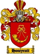 Honeycutt Family Crest / Coat of Arms JPG or PDF Image Download - $6.99