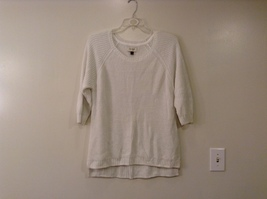 Sonoma Knitted White Scoop Neck 1/2 Sleeve Acrylic Sweater size XL