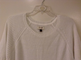 Sonoma Knitted White Scoop Neck 1/2 Sleeve Acrylic Sweater size XL image 3