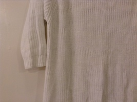 Sonoma Knitted White Scoop Neck 1/2 Sleeve Acrylic Sweater size XL image 4