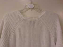 Sonoma Knitted White Scoop Neck 1/2 Sleeve Acrylic Sweater size XL image 6
