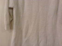 Sonoma Knitted White Scoop Neck 1/2 Sleeve Acrylic Sweater size XL image 7