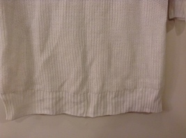 Sonoma Knitted White Scoop Neck 1/2 Sleeve Acrylic Sweater size XL image 8