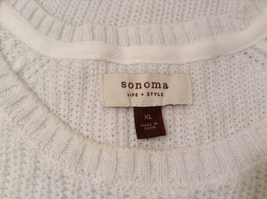 Sonoma Knitted White Scoop Neck 1/2 Sleeve Acrylic Sweater size XL image 9