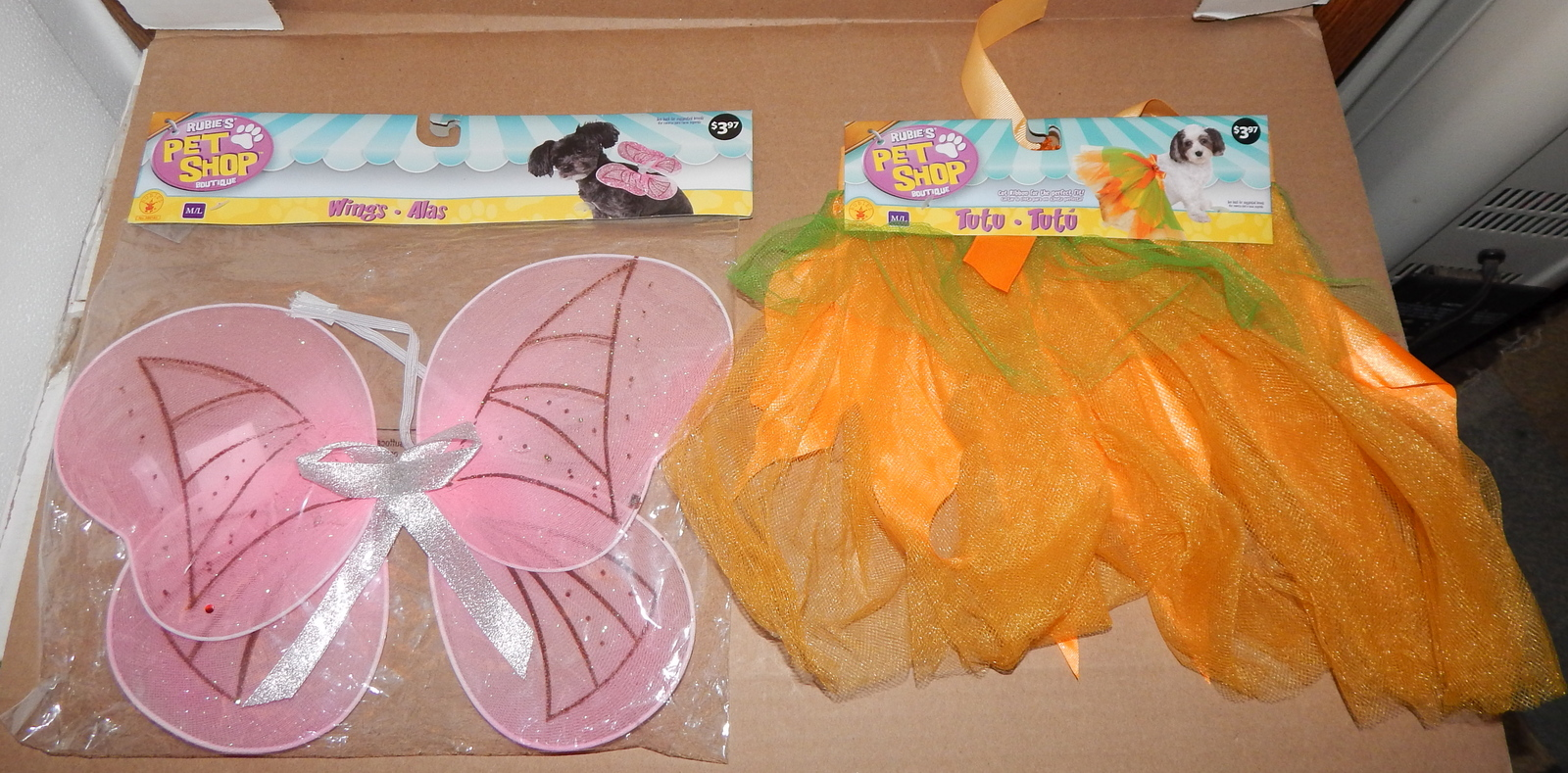 Halloween Dog Pet Costume Butterfly Wings & Tutu Rubies Med/Large 71U