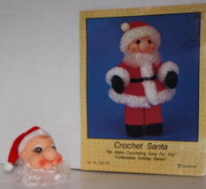TdCreations Santa Holiday Series Crochet Pattern & Whimsey Santa Claus Doll Head - $10.69