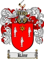 Kane Family Crest / Coat of Arms JPG or PDF Image Download for sale  USA