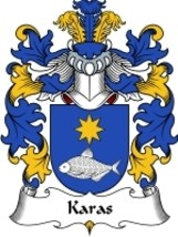 Karas Family Crest / Coat of Arms JPG or PDF Image Download - $6.99
