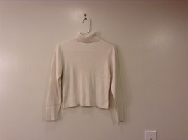Christie Brooks White 100% Cotton Turtleneck Sweater size XL (16) JR / adult S/M