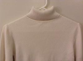 Christie Brooks White 100% Cotton Turtleneck Sweater size XL (16) JR / adult S/M image 3