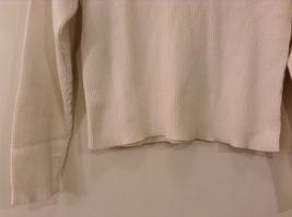 Christie Brooks White 100% Cotton Turtleneck Sweater size XL (16) JR / adult S/M image 4