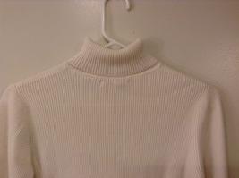 Christie Brooks White 100% Cotton Turtleneck Sweater size XL (16) JR / adult S/M image 6