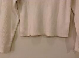 Christie Brooks White 100% Cotton Turtleneck Sweater size XL (16) JR / adult S/M image 7