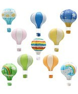 Hanging Hot Air Balloon Paper Lanterns, Reusable Chinese Japanese (Multi 1) - $497,21 MXN