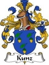 Kunz Family Crest / Coat of Arms JPG or PDF Image Download - $6.99