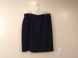 Black Knee Length Pencil Skirt size 24W image 2