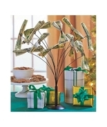 Metal Money Tree Gift Card Holder Party Conversation Piece Table Centerp... - $9.99