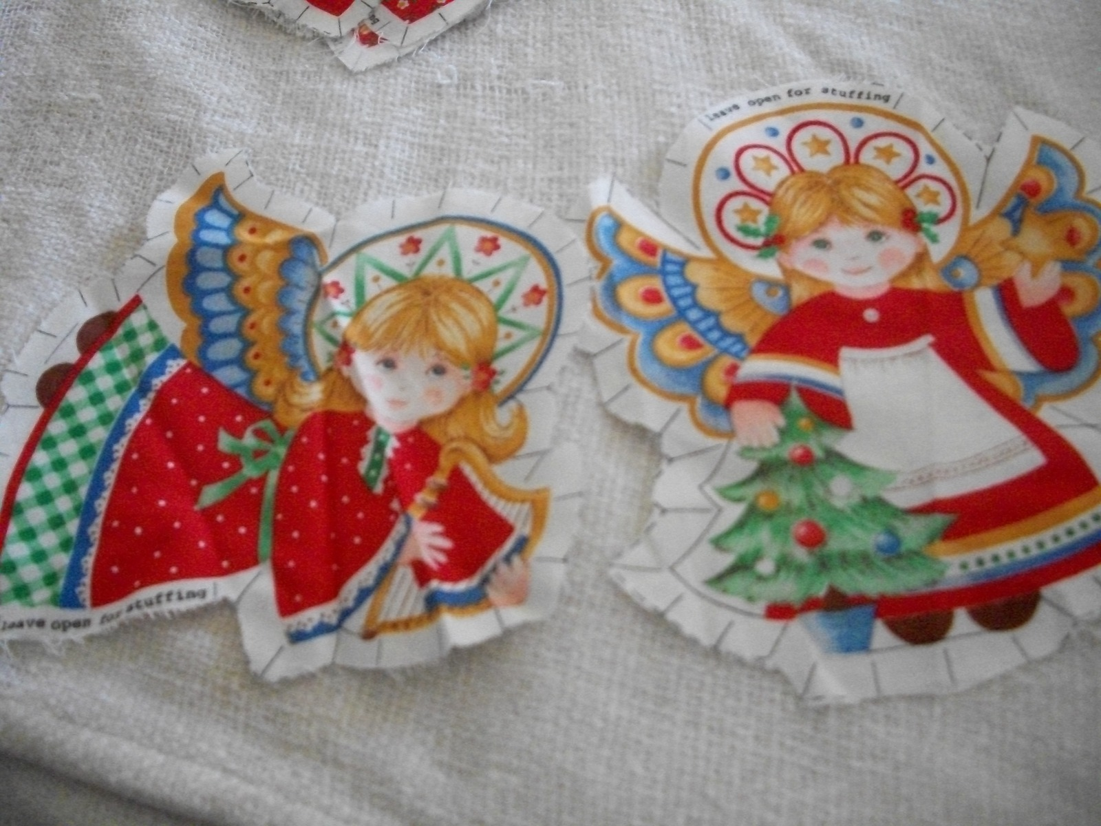 Primary image for Fabric Angel Christmas Ornaments