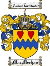 Macmeehan Family Crest / Coat of Arms JPG or PD... - $6.99