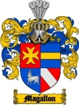 Magallon Family Crest / Coat of Arms JPG or PDF Image Download - $6.99