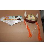 Halloween Dog Pet Costume Angel Wings & Viking Hat With Braids S/M Rubie... - $6.92