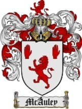 Mcauley Family Crest / Coat of Arms JPG or PDF Image Download - $6.99