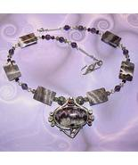 .925 Silver Amethyst, Peridot, Citrine and Garnet Necklace - $90.00