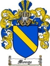 Monge Family Crest / Coat of Arms JPG or PDF Image Download - $6.99