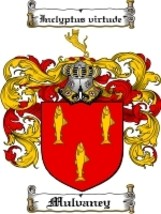 Mulvaney Family Crest / Coat of Arms JPG or PDF Image Download - $6.99