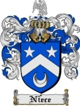 Niece Family Crest / Coat of Arms JPG or PDF Image Download - $6.99