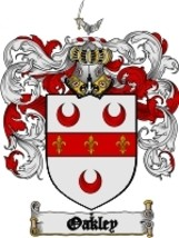 Oakley Family Crest / Coat of Arms JPG or PDF Image Download - $6.99
