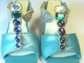 Flight Of Fancy Rare UK Variation Jeweled Dragonfly Sandal Just the Right Shoe