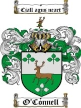 O'Connell Family Crest / Coat of Arms JPG or PDF Image Download - $6.99