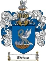Orban Family Crest / Coat of Arms JPG or PDF Image Download - $6.99